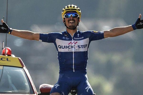 Tour de France 2018 : Première victoire française avec l'échappée belle de Julian Alaphilippe