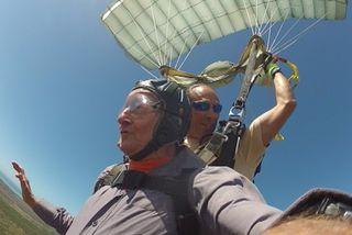saut parachute octogénaire