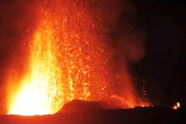 Eruption video 18 mai