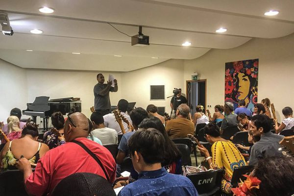 Ukulélé 2018 : des répétitions au Conservatoire artisitique
