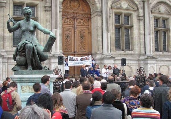 Rassemblement soutien otages à Paris (2)