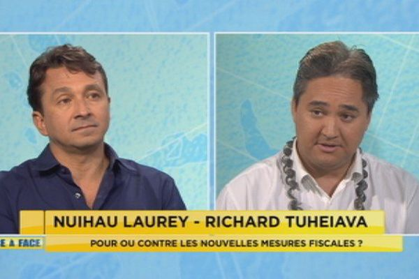 Face a face pour ou contre les taxes Laurey Tuheiava