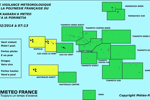 Carte vigilance meteo