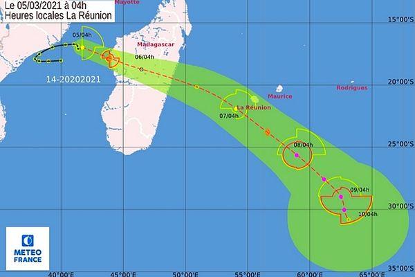 Dépression dans le canal destination Réunion 5 mars 2021