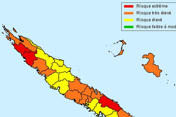 La carte Prévifeu du risque feu de forêt 18 novembre 2017