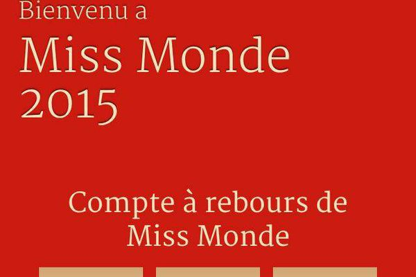 """Ouvrez l'application """"Miss World"""" sur votre smartphone"""