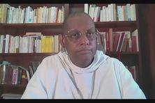 Mgr David Macaire en conférence de presse Zoom avec la presse guadeloupéenne