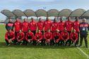 Football : échauffement du FC M'Tsapéré avant le coup d'envoi des 32e de finale de la Coupe de France