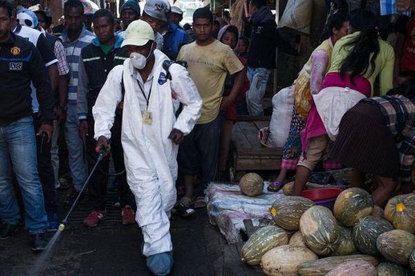Désinfection à Madagascar pour lutter contre la peste