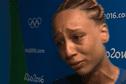 La handballeuse Béatrice Edwige et ses coéquipières en demi-finale des JO