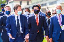 Le président de la République de Madagascar, Andry Rajoelina, était l'invité d'honneur de la Rencontre des Entrepreneurs Francophones, à Longchamp. Il a été accueilli par Geoffroy Roux de Bézieux, le président du MEDEF.