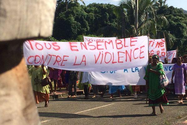 Marche des femmes de Canala contre la violence, 23 mars 2018