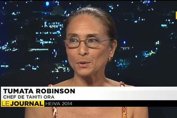 L'invitée du journal Tumata Robinson,  Tahiti ora