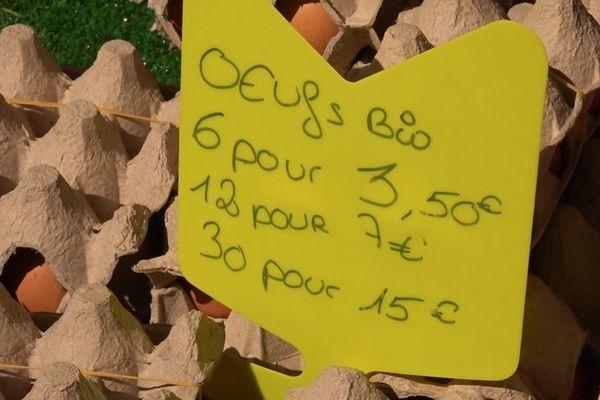 Marché péi oeufs bio Jardin de l'Etat Saint-Denis 110921
