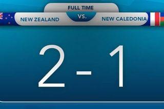 Score U19 Nouvelle-Zélande / Nouvelle-Calédonie, 16 août 2018
