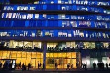 La Bourse des métaux de Londres (London Metal Exchange-LME) après clôture de la Bourse