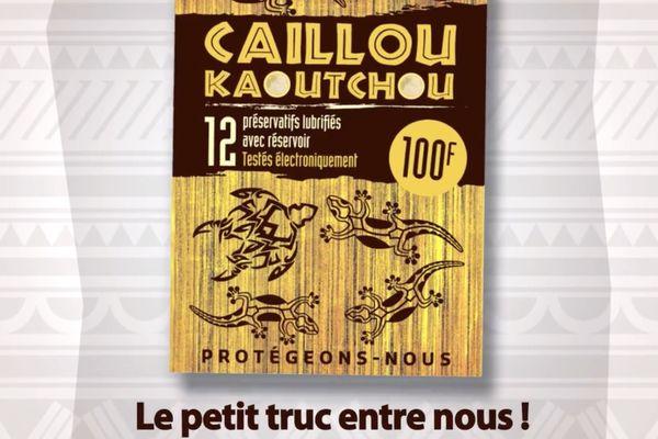 Capture d'écran de la campagne 2020 pour le préservatif Caillou kaoutchou