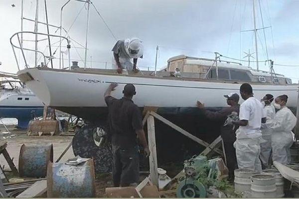 Chantier naval/école à Saint-Martin