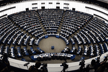 Vue du Parlement européen à Strasbourg.