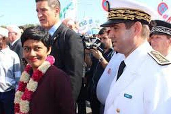 Erika Bareigts avec le préfet de Mayotte