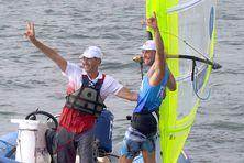 Samedi 31 juillet à Enoshima, Thomas Goyard vient de devenir vice-champion olympique de RS:X.