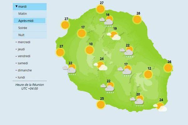 Carte météo du 10 avril 2018