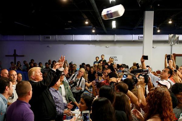 Donald Trump à Porto Rico