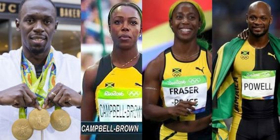 Usain Bolt, Veronica Campbell-Brown, Shelly-Anne Fraser-Pryce, Asafa Powell © iamajamaican