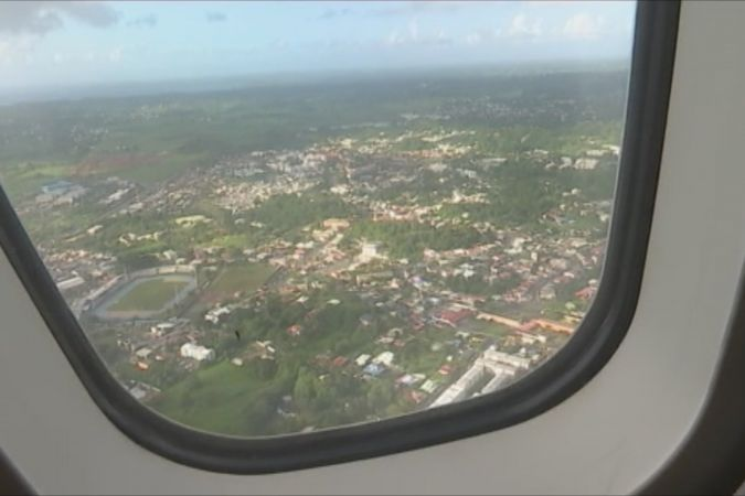 Survol de la ville de Fort-de-France (Martinique). © Martiniquela1ère