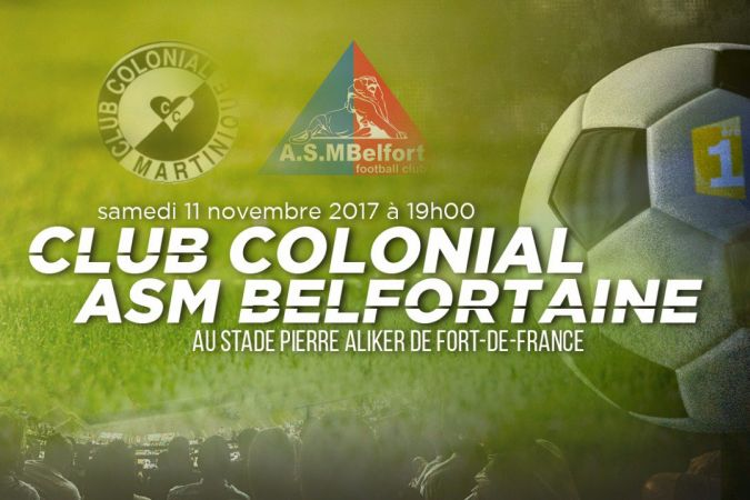 L'affiche du 7e tour de la coupe de France : le Club Colonial reçoit l'Asm Belfort © Martinique 1ère