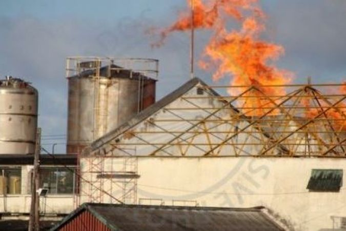Incendie à Mount Gay Distillerie © barbados today