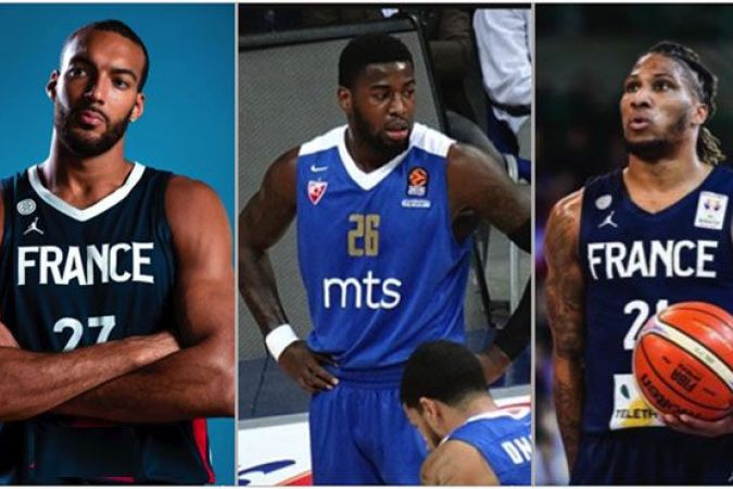 Rudy Gobert (Guadeloupe) Mathias Lessort et Andrew Albicy (Martinique) © Cap/FB/Officiel