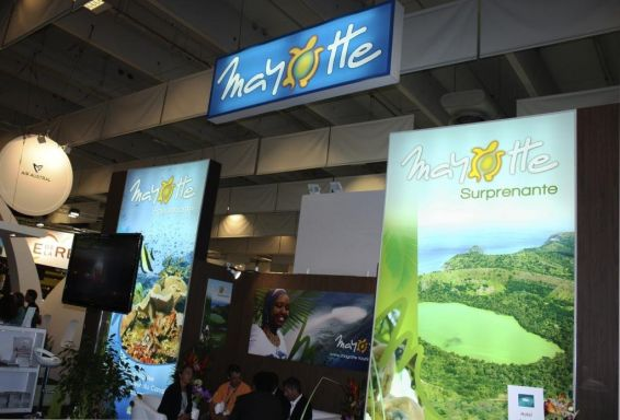 Le stand de Mayotte au salon du tourisme à Paris © PHOTO : EMMANUEL TUSEVO :