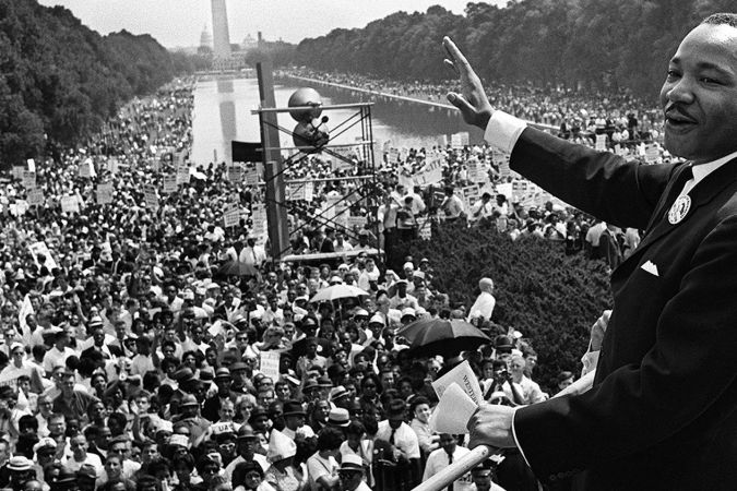 Martin Luther King lors de la marche sur Washington