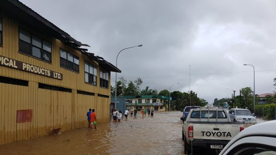 Apia, la capitale des Samoa, inondée. © Disaster management office of Samoa