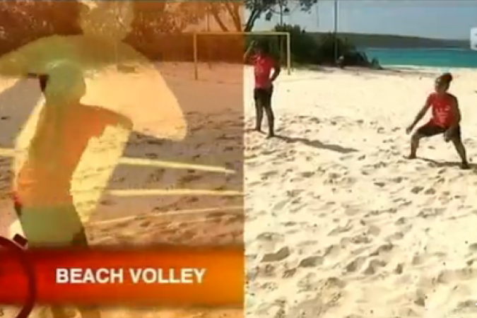 Beach volley à Lifou