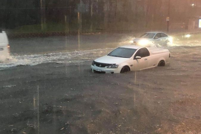 Lane Cove Road, Macquarie Park, ce matin © NSW Police Force