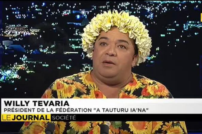 "Invité : Willy Tavaria, association ""A Tauturu iana © Polynesie1ere"