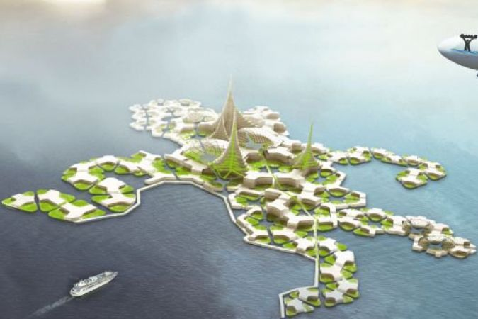 Une ébauche de la ville flottante © The Seasteading Institute