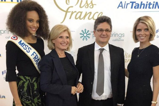Alicia Aylies, Murielle Nouchy, Michel Monvoisin, Sylvie Tellier. © Miss France