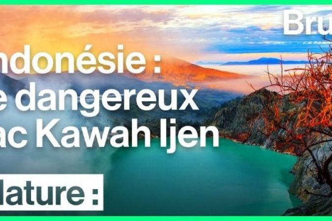 Kawah Ijen, le plus grand lac acide au monde