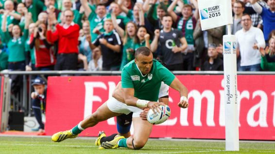 Simon Zebo lors du match contre la Roumanie le 27 septembre. © BEN QUEENBOROUGH / BACKPAGE IMAGES LTD / DPPI MEDIA
