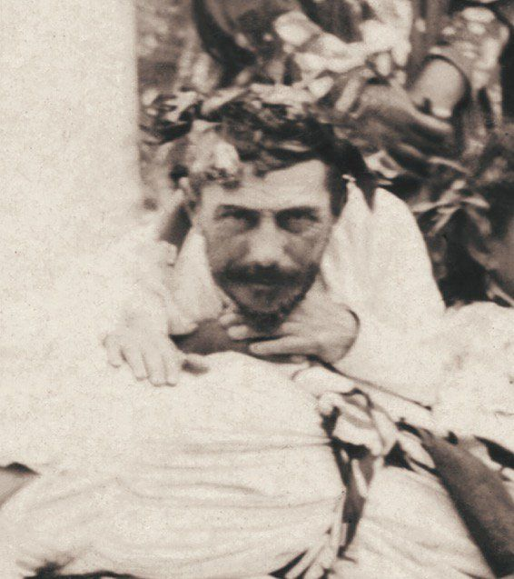 Photo de Jules Agostini, montrant Paul Gauguin à Tahiti, 19 juillet 1896 © Daniel Blau, Munich - Reproduction interdite