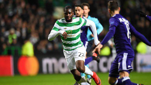 Odsonne Edouard, attaquant du Celtic Glasgow, en 2017. © Andy BUCHANAN / AFP