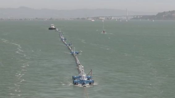 Prototype de Ocean Cleanup © Capture d'écran