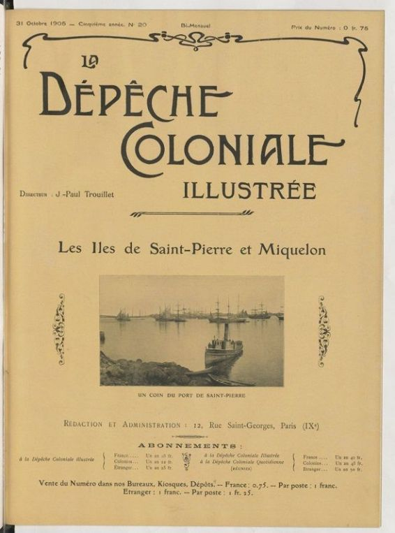 Publication d'octobre 1905. © NUMBA