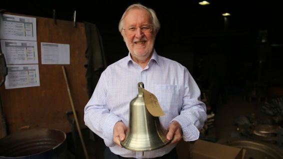 Maritime tradition. Copper and nickel bell for Archibald Young's Royal Navy ship. © Alain Jeannin