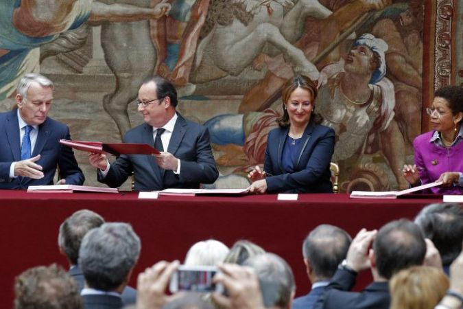 Ratification de l'accord sur le climat par la France le 15 juin 2016 © AFP