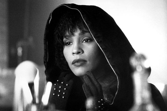 "Whitney Houston dans le film ""The Bodyguard"", en 1992."
