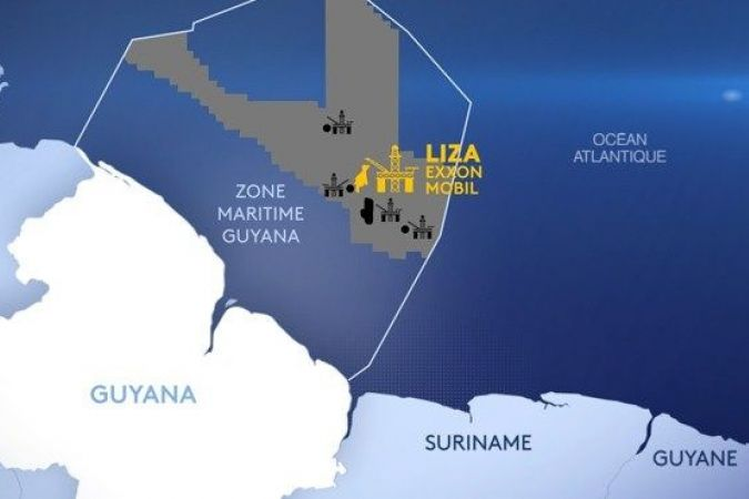 "- ""LIZA"" un grand gisement de pétrole offshore au large du Guyana © FTV"